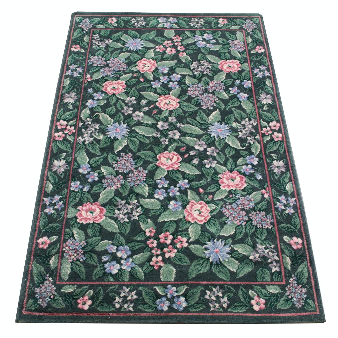 Machine Made Contemporary Floral Area rug