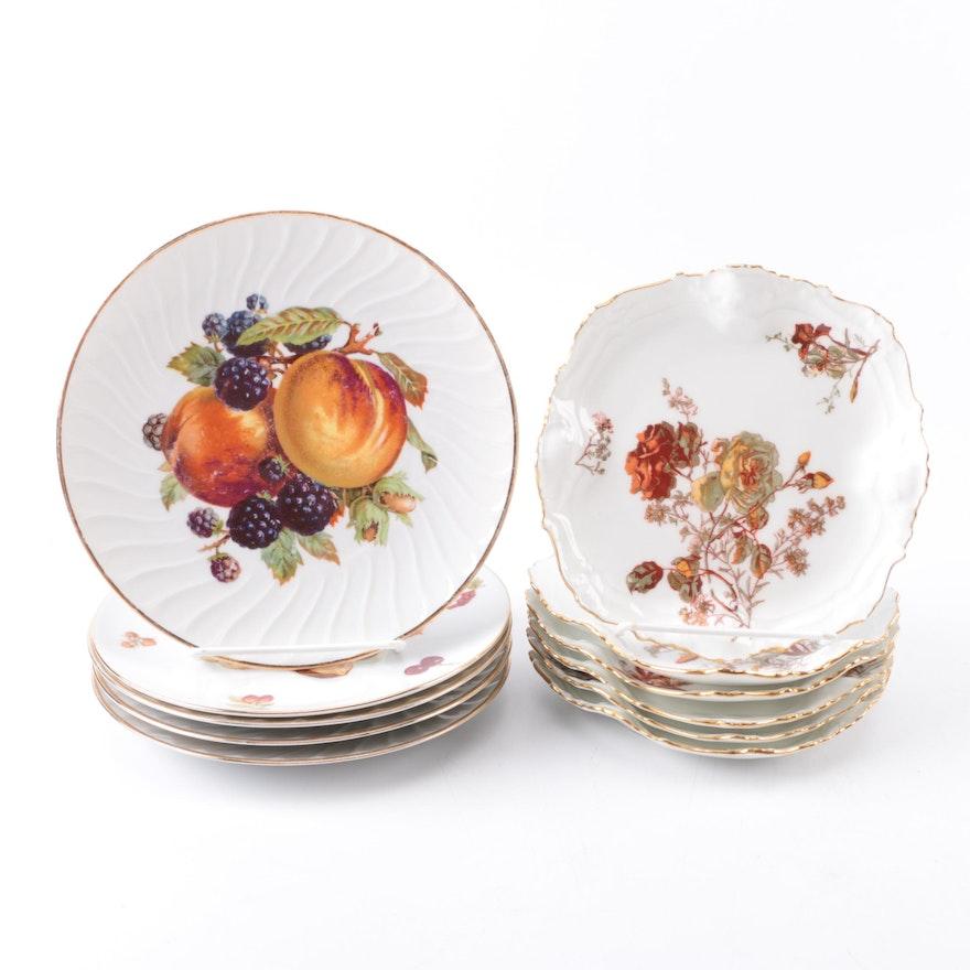 Antique A  Lanternier Limoges Porcelain Plates and More