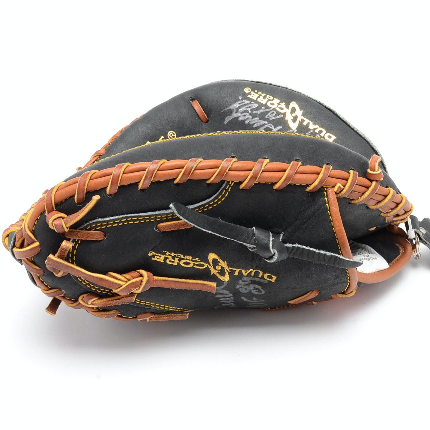 Johnny Bench Gold Gloves Johnny Bench Signed Black Gold