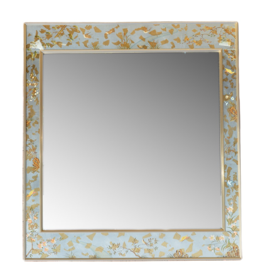 Asian inspired verre eglomise style wall mirror ebth asian inspired verre eglomise style wall mirror amipublicfo Images