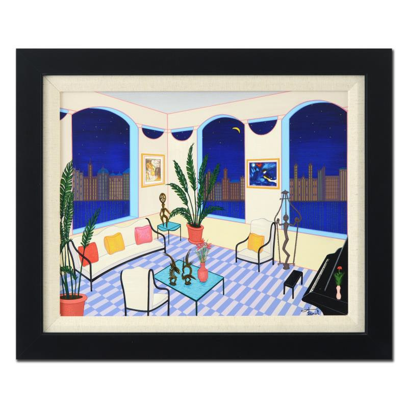 """""""Interior with Primitive Art"""" Limited Edition Serigraph"""
