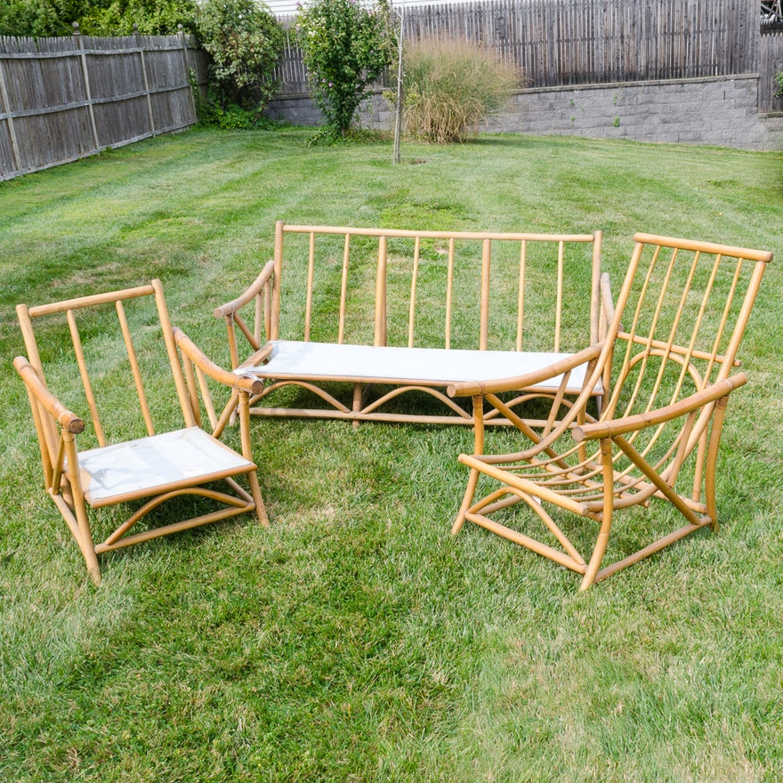 Set of Bamboo Outdoor Furniture by Modern Reed & Rattan Co.