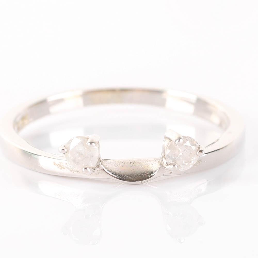 14k white gold ring guard ebth