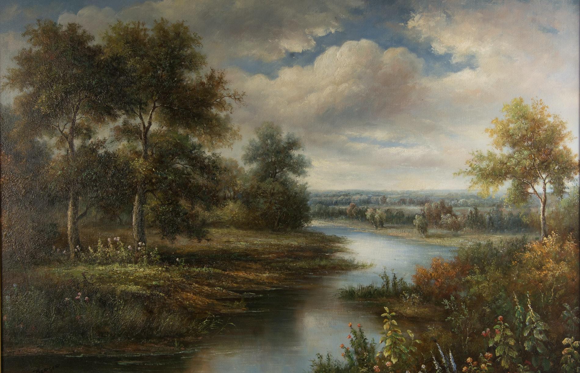 Bb Auto Sales >> Berger Oil on Canvas Landscape Painting : EBTH