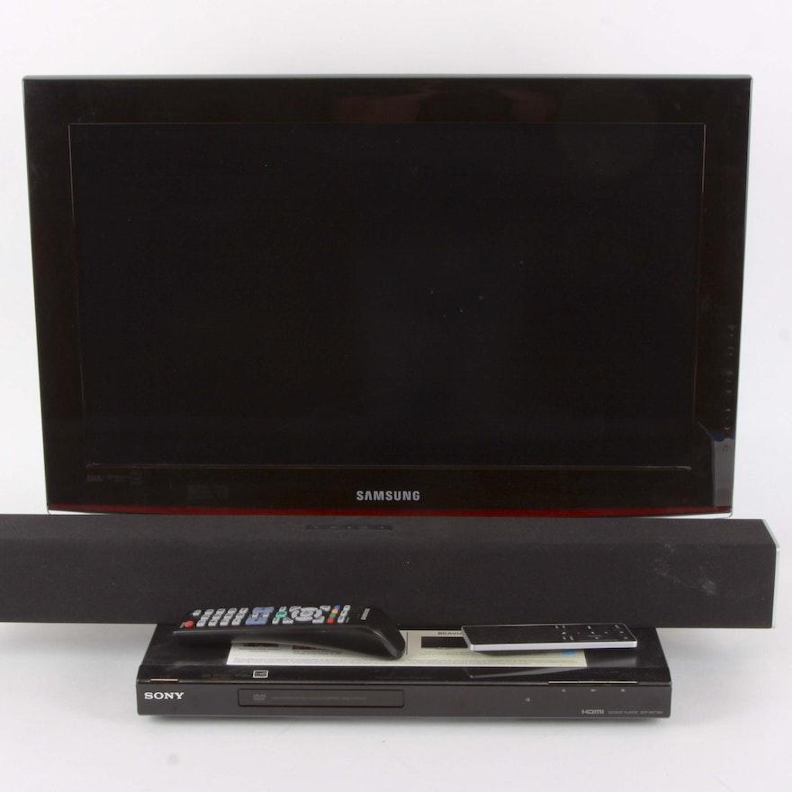 Samsung 26 Tv Sony Cddvd Player And Vizio 29 Sound Bar Ebth