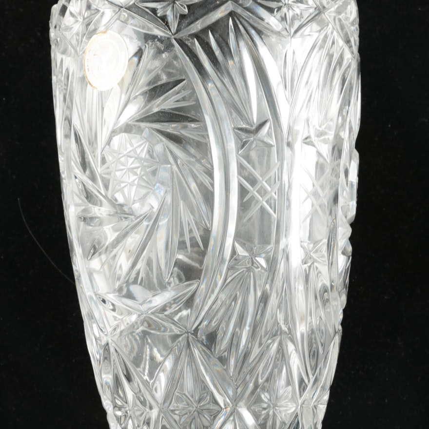 Pinwheel Crystal Vase Ebth