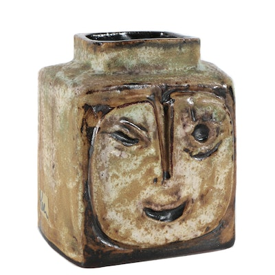 "Helmut Schäffenacker Decorative Vase ""Faces"""