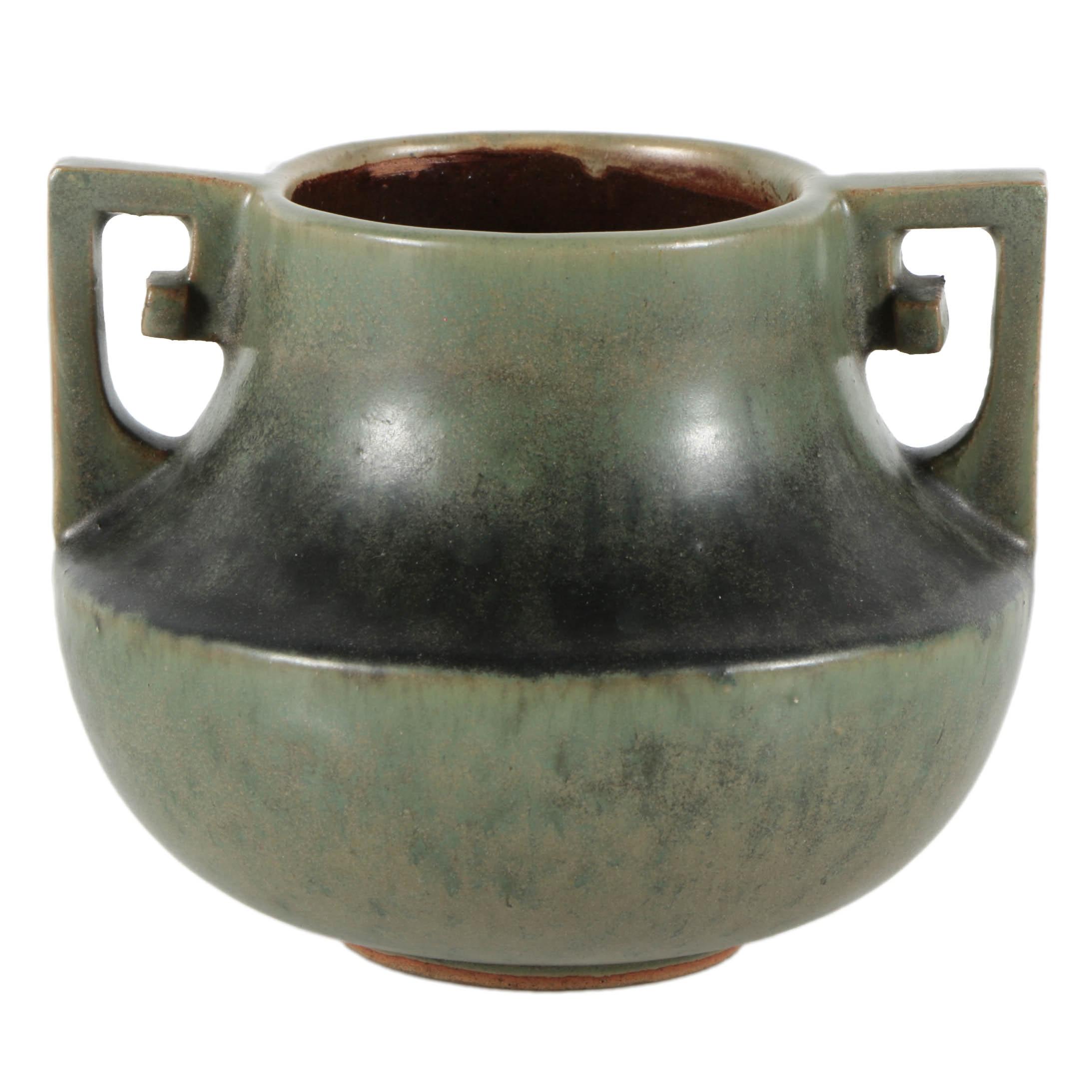 Fulper Pottery Ceramic Short Vase