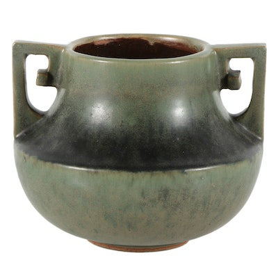 Fulper Pottery Ceramic Short Vase