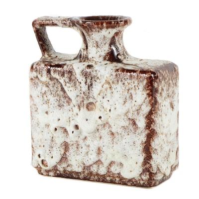 Attributed to Jopeko Keramic Fat Lava Handled Vase