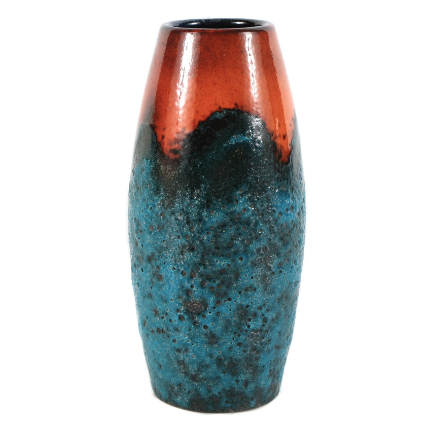 West German Studio Fat Lava Vase