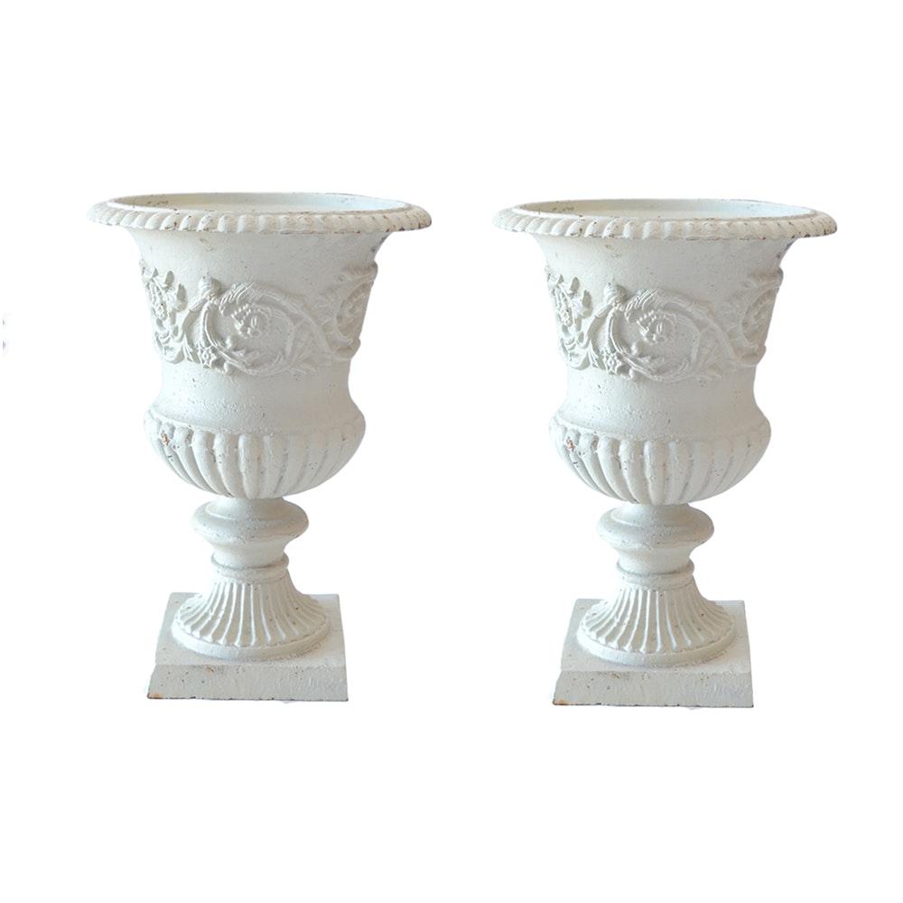 Decorative Cast Iron Urn Planters