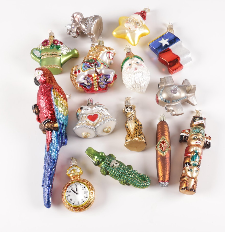 Old World Christmas Glass Ornament Collection  EBTH