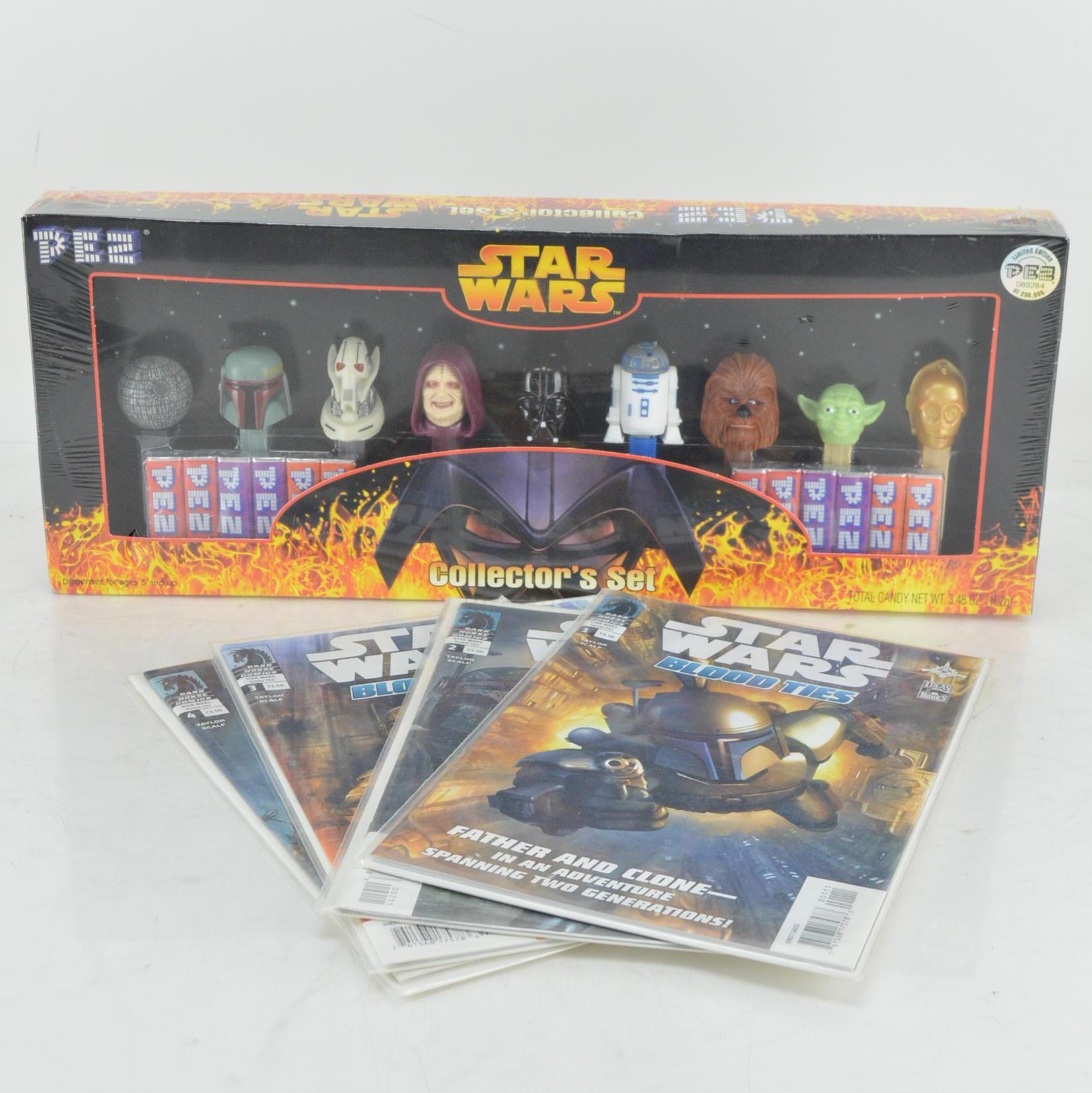 """Star Wars"" Comics and Pez Collector's Set"
