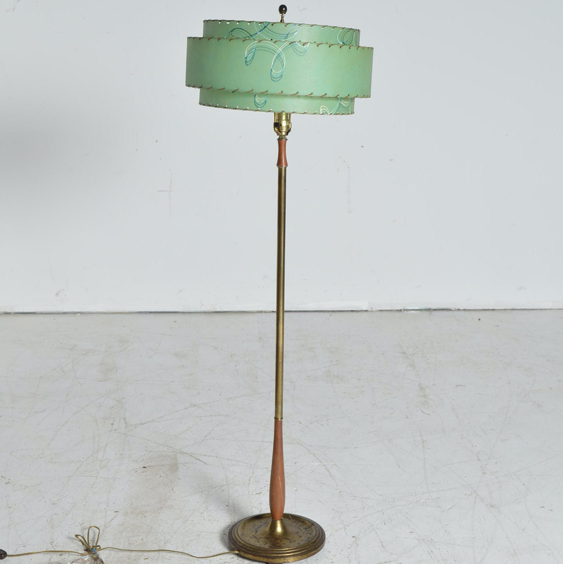 Mid Century Modern Lamp with Fiberglass Shade