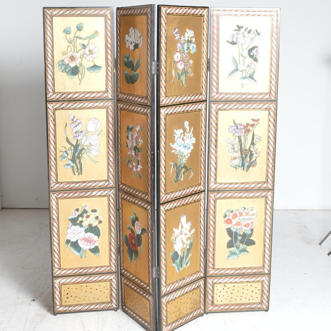 Floral Themed Room Divider