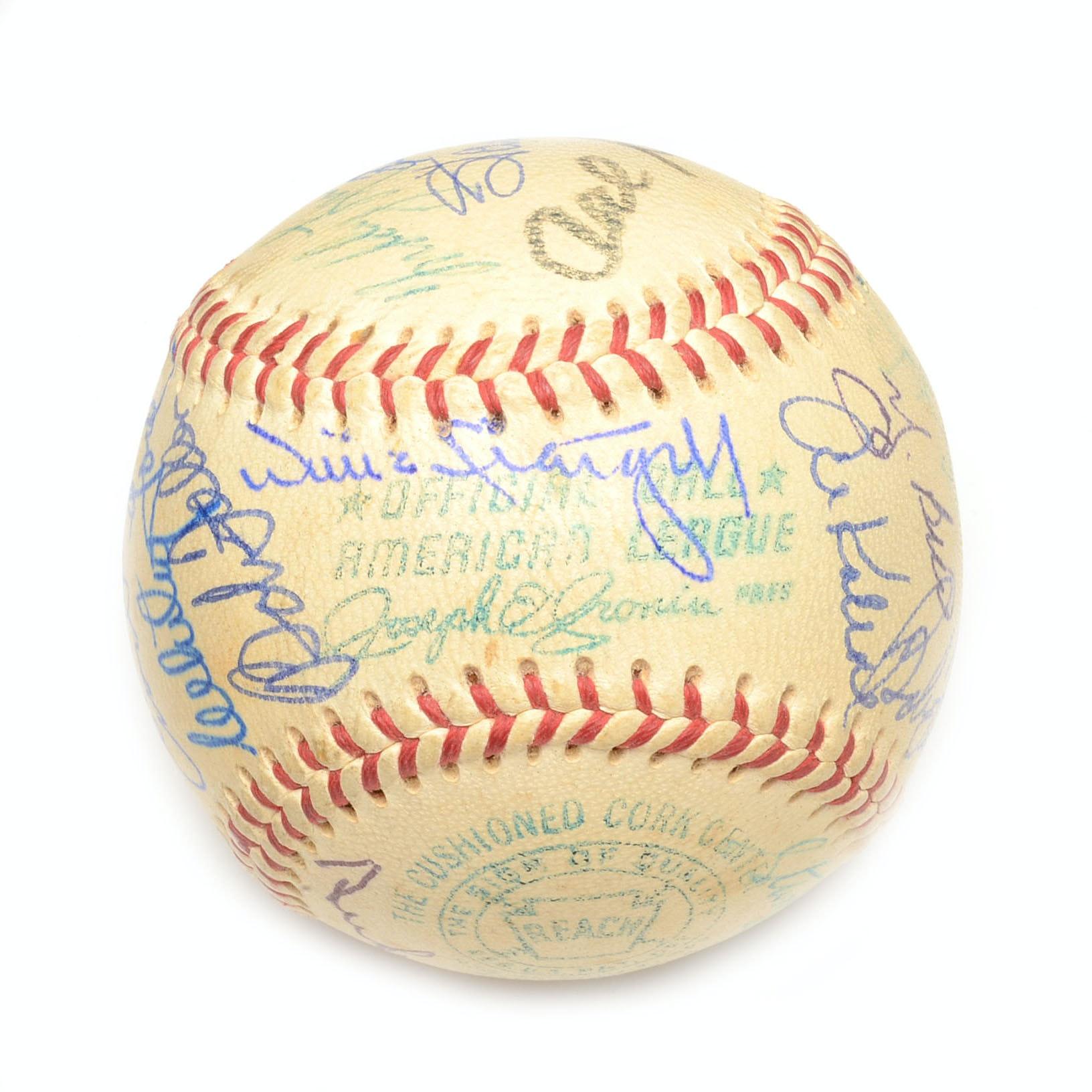 Hall Of Fame Signed Baseball Coa Ebth