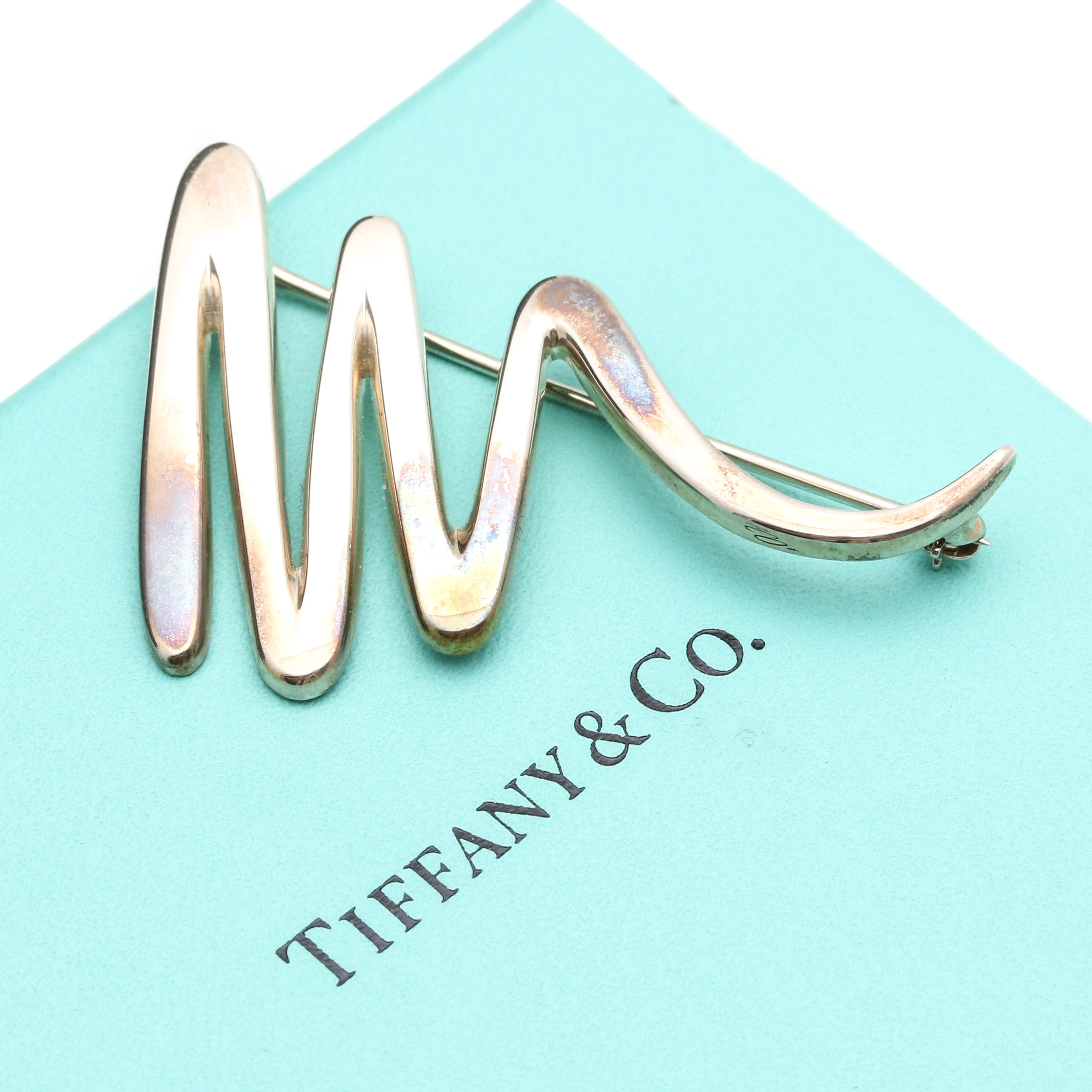 "Tiffany & Co. Sterling Silver Paloma Picasso ""Zigzag"" Brooch"