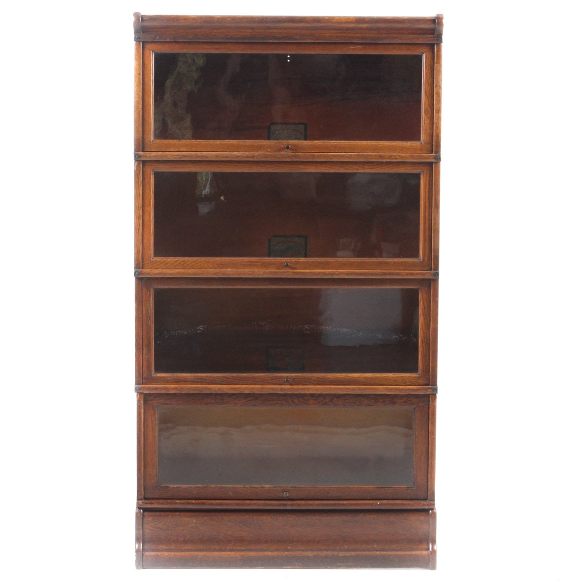 Antique Oak Barrister Bookcase by The Globe-Wernicke Co.
