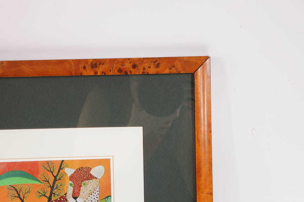 Signed And Framed Print Of Leopard Ebth
