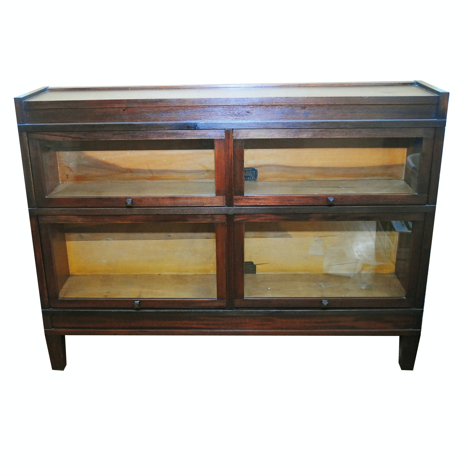 Arts Crafts Style Sectional Barrister Bookcase By Globe Wernicke