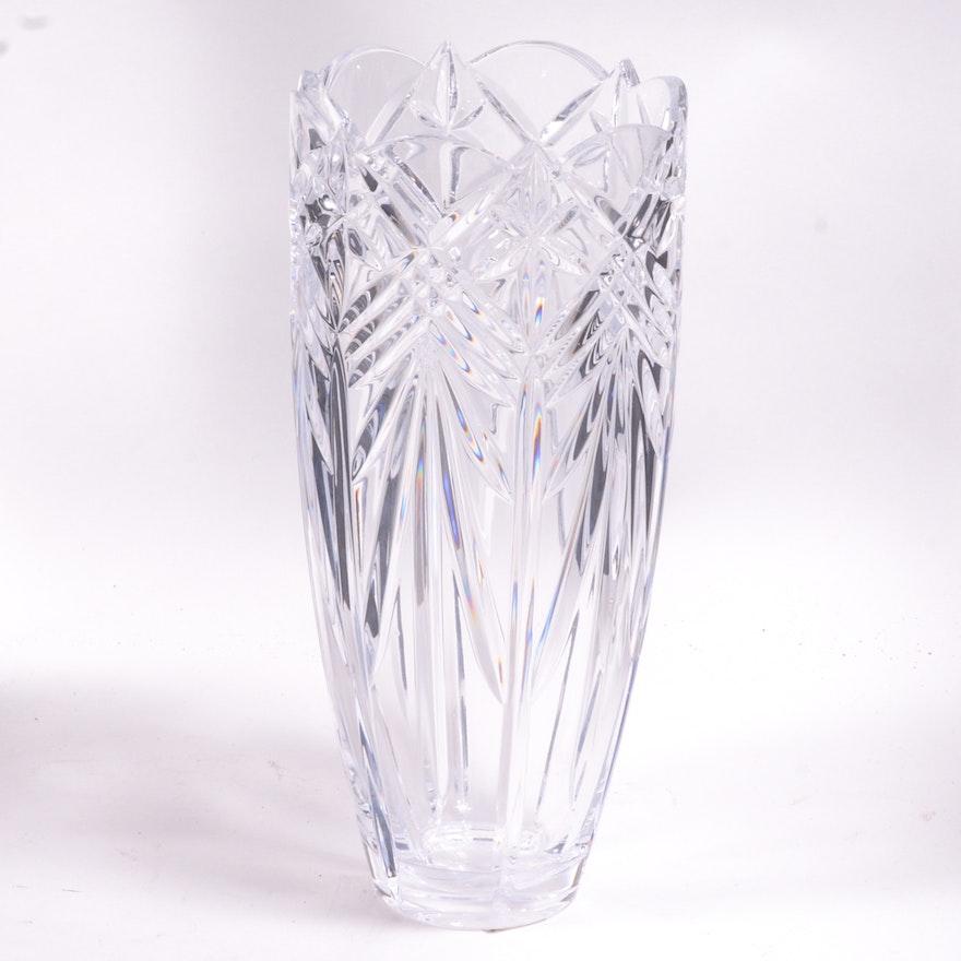 Mikasa Star Struck Crystal Vase Ebth