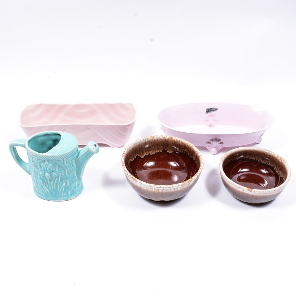 American Made Pottery Including Brush and Royal Haeger