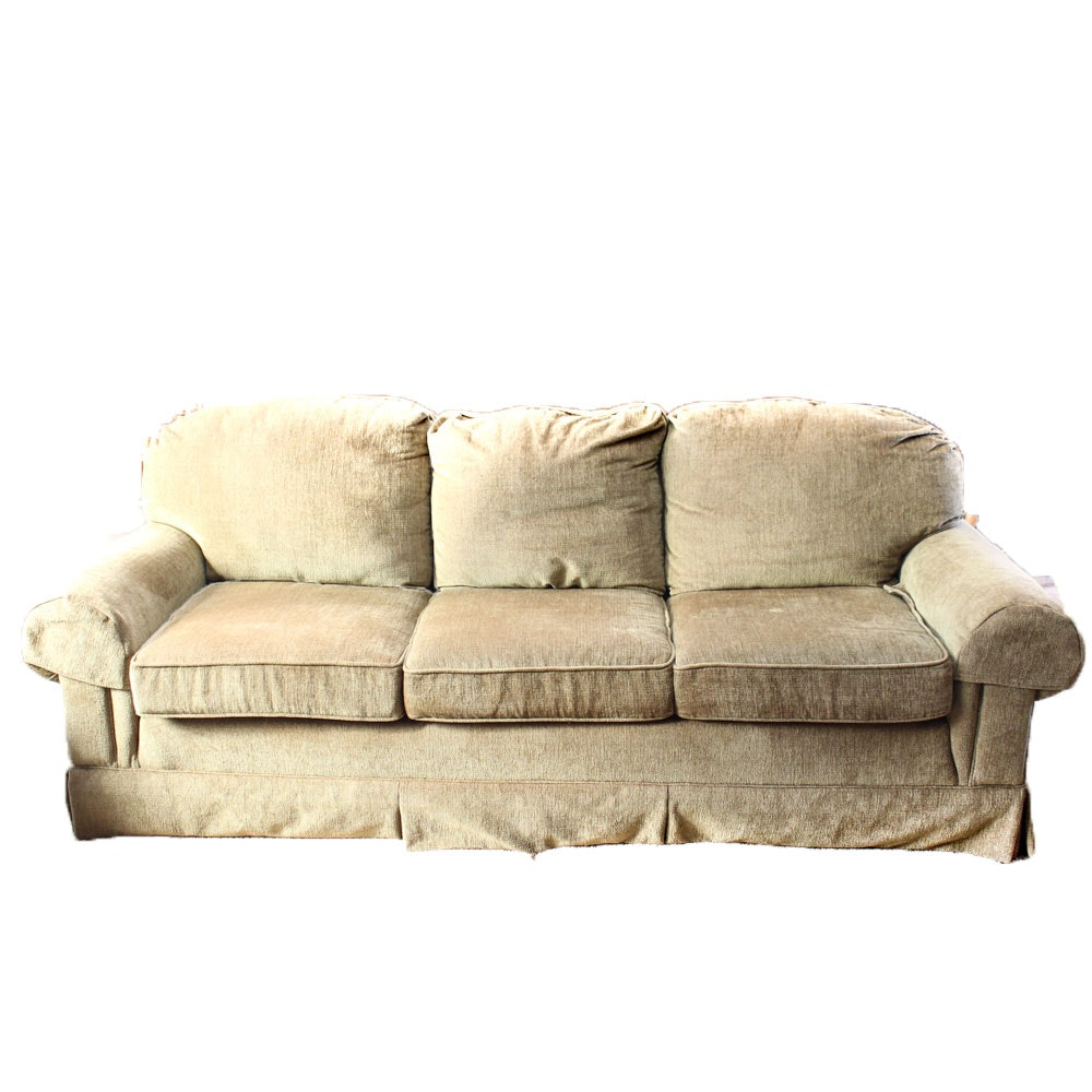 Upholstered Moss Green Sofa