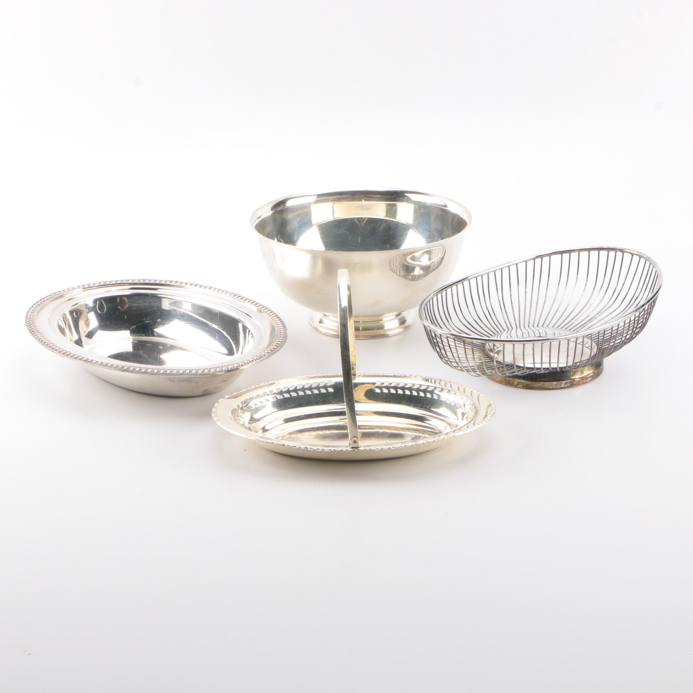 Assortment of Silver Plated Serveware