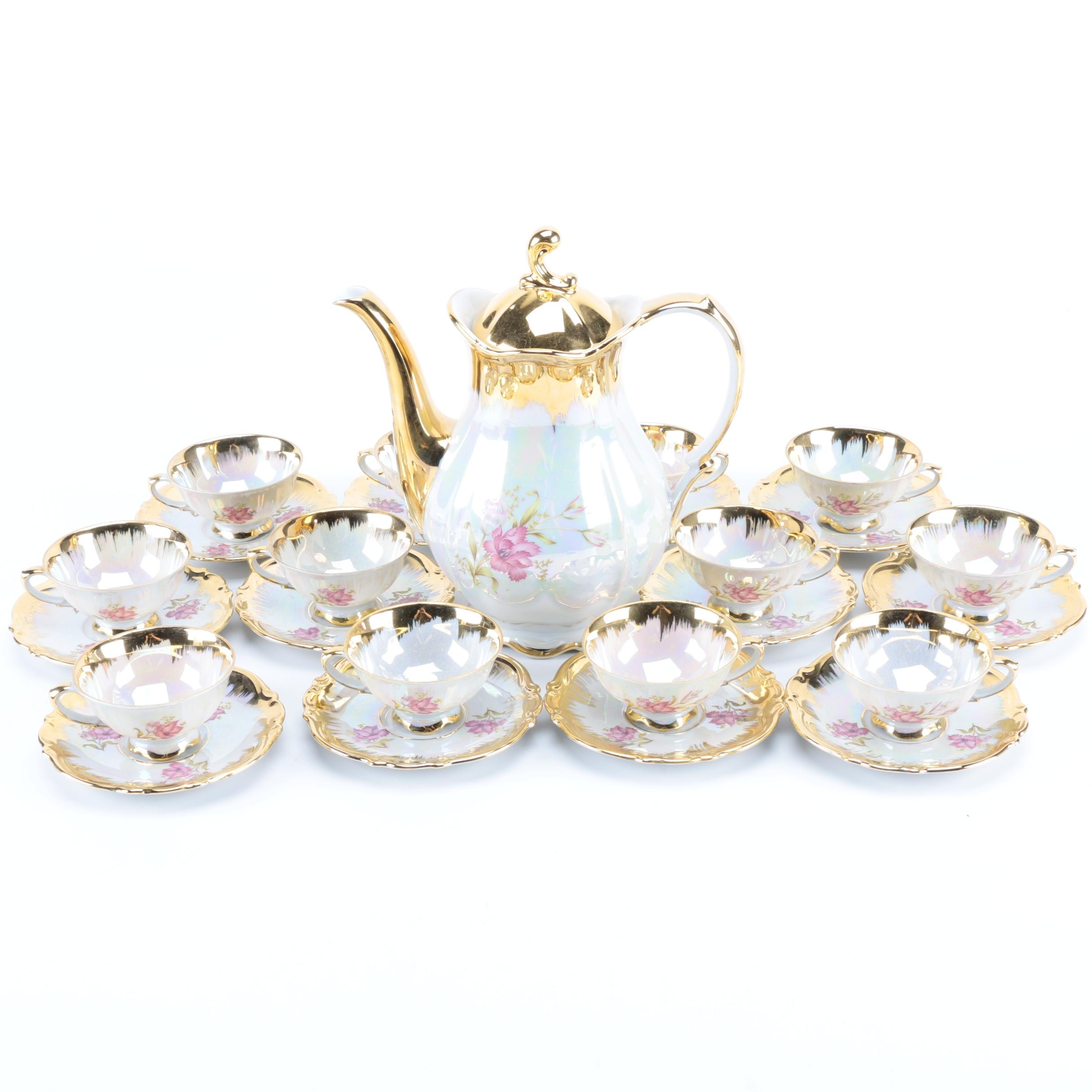 Vintage Bavarian Lustre Gold Tea Set