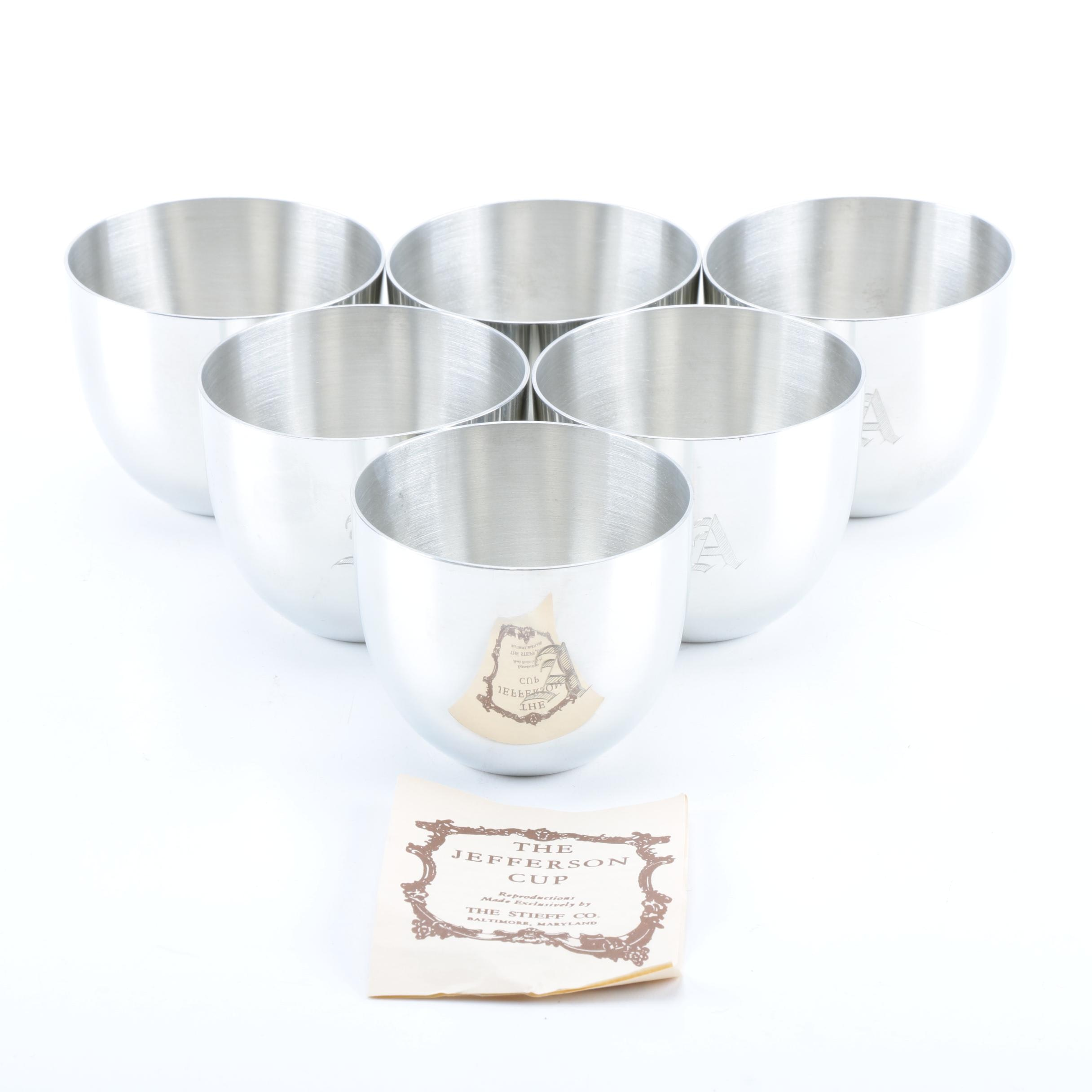 The Stieff Co. Reproduction Pewter Jefferson Cups