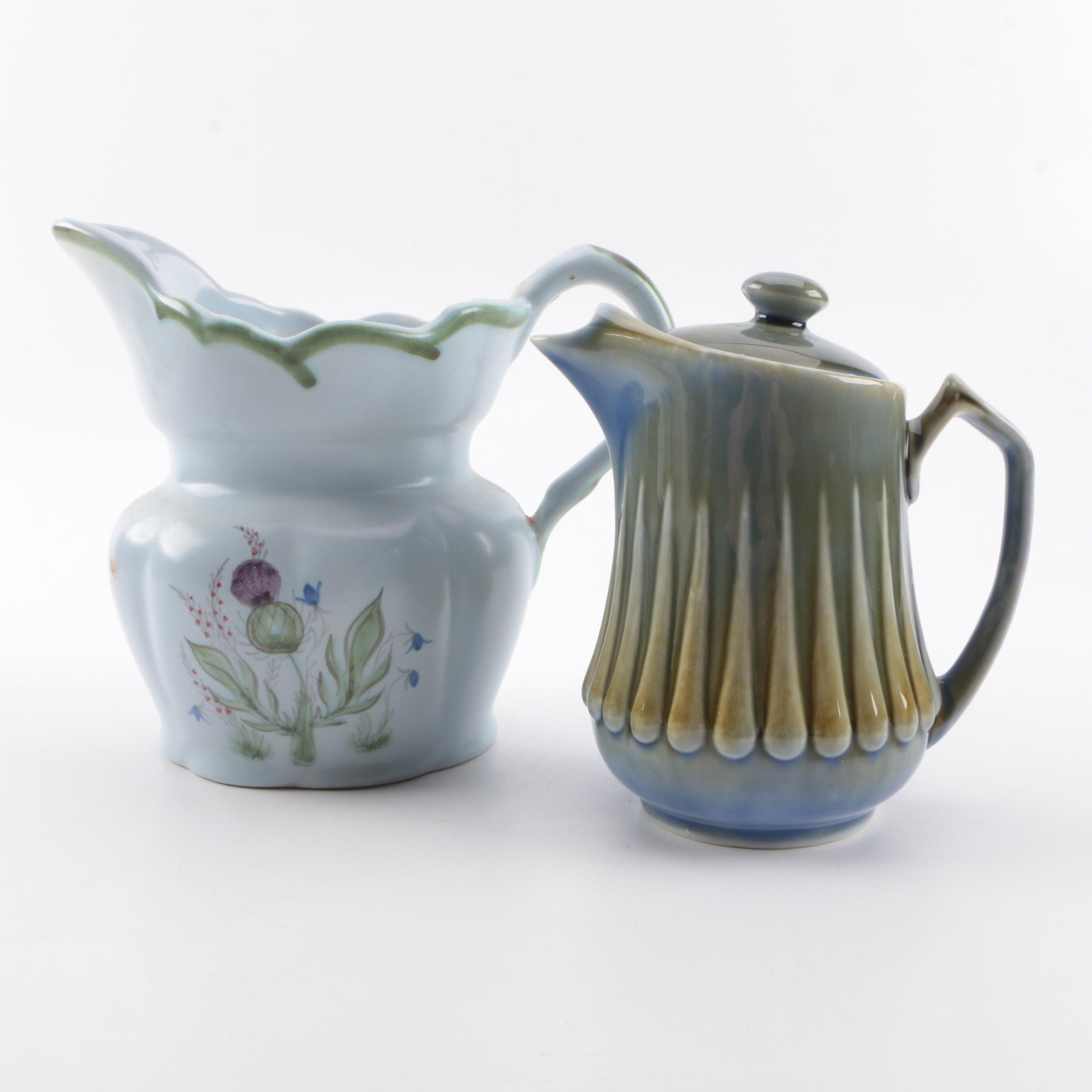"Buchan ""Thistleware"" Jug and Porcelain Coffee Pot"