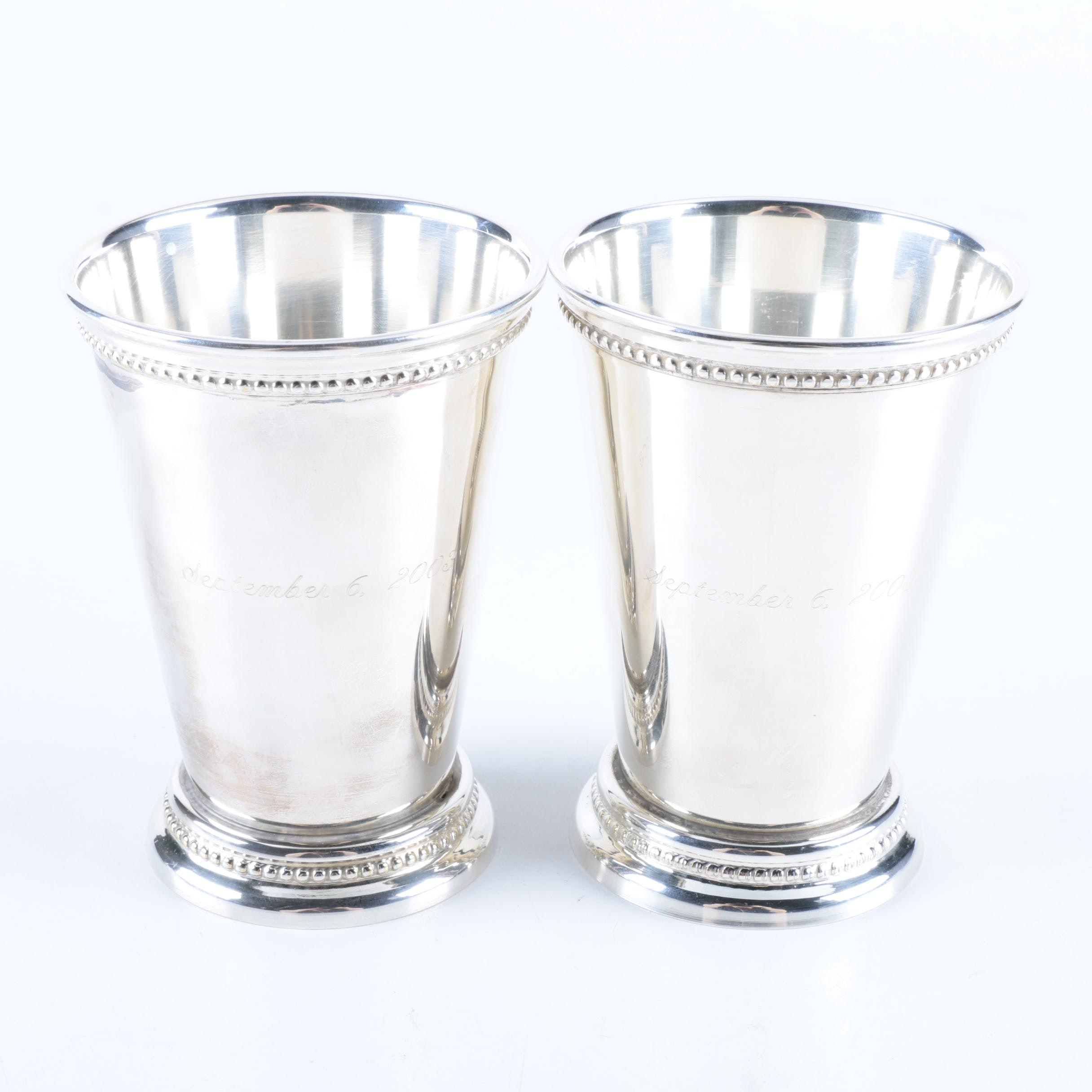 Silver Plate Julep Cups