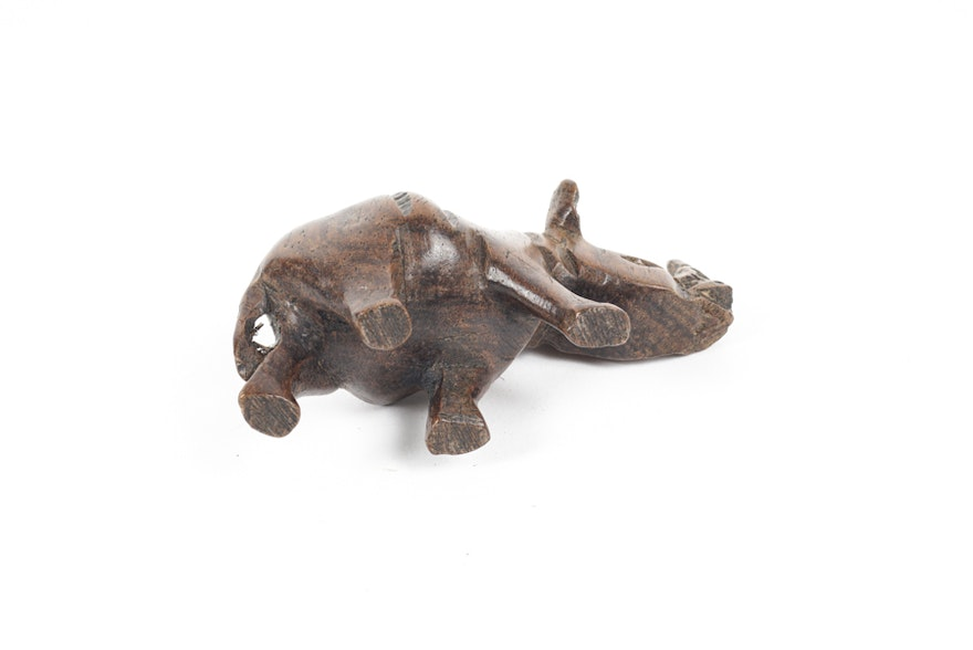 Small carved wood and stone african animals ebth