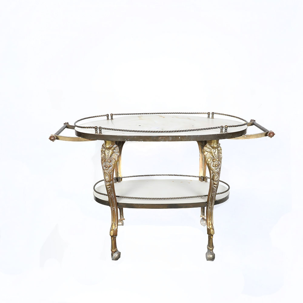 Mid-Century Rococo Style Bar Cart
