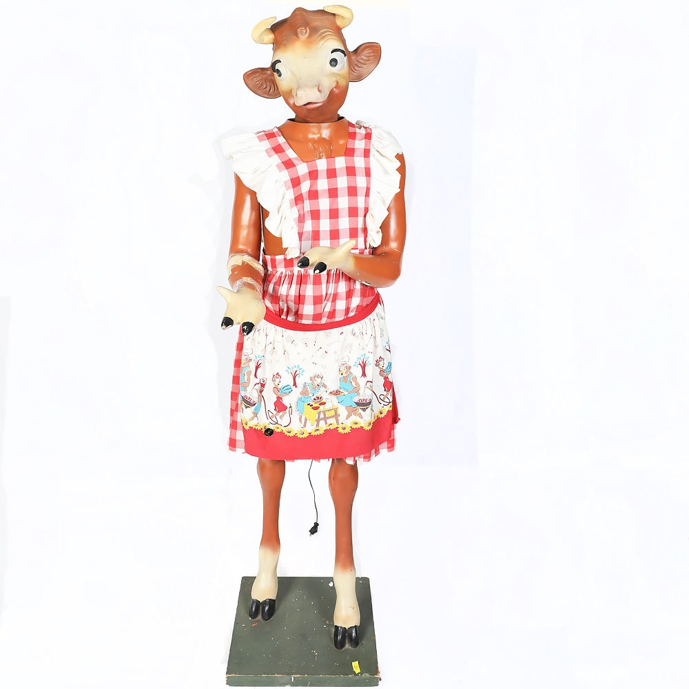Electric Advertising Statue of Elsie The Cow