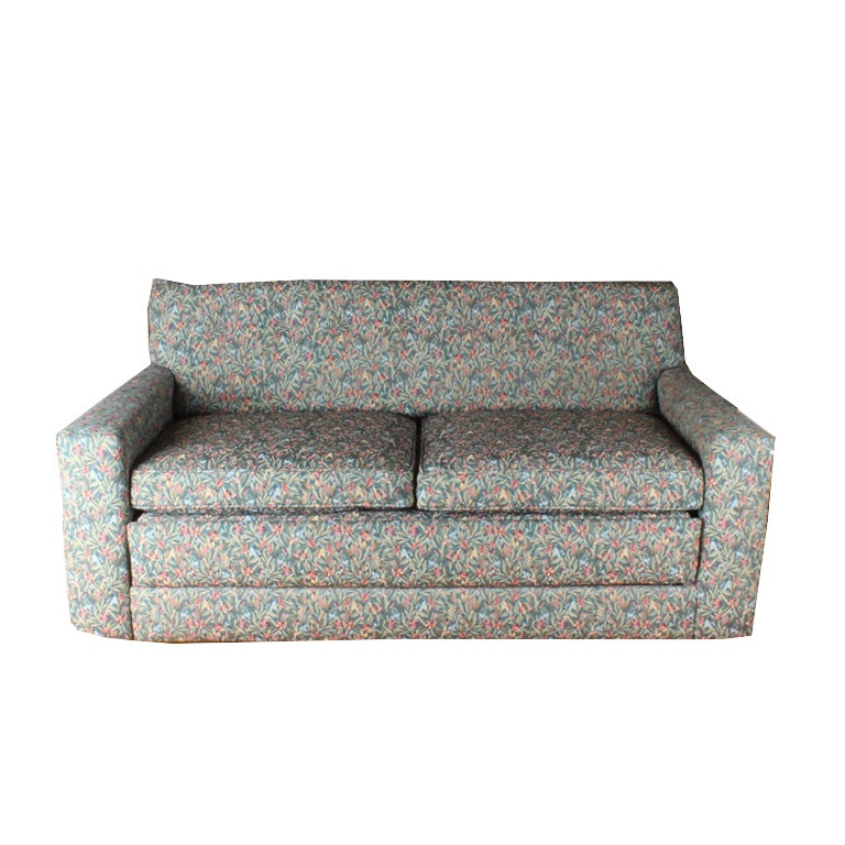 Floral Upholstered Sleeper Love Seat