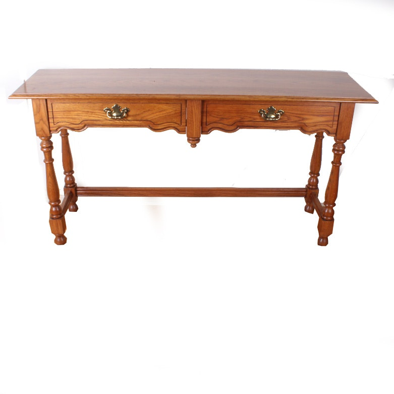 Tell City Chair Co Oak Console Table