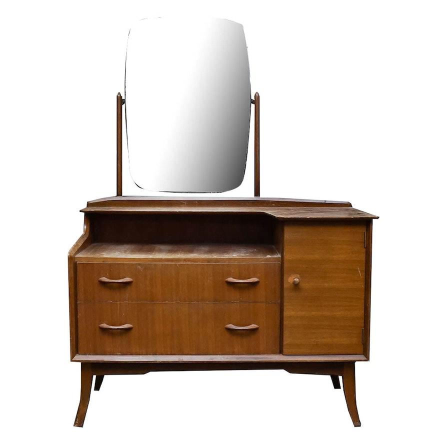 Mid Century Modern Vanity Dresser By Wrighton