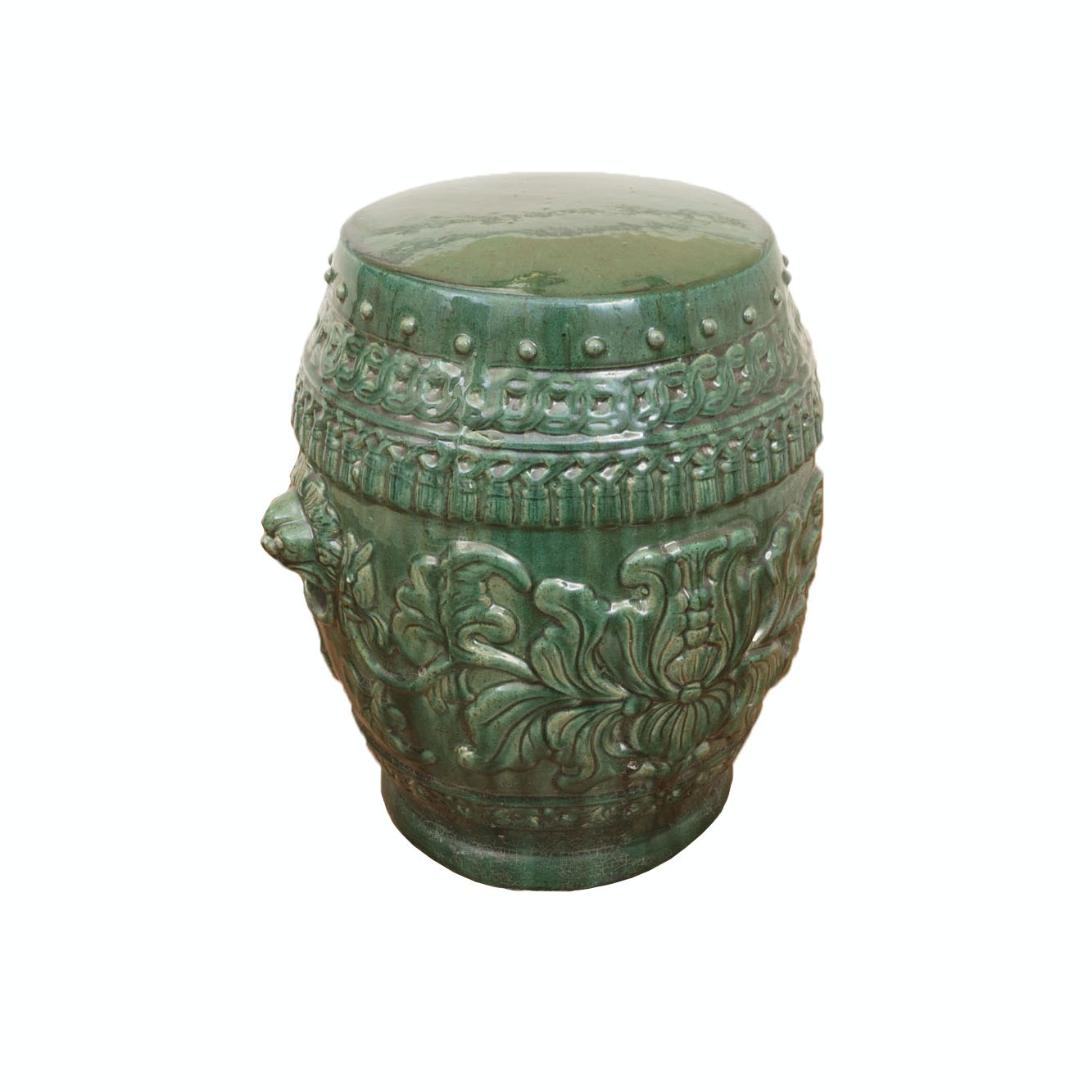 Large Decorative Green Ceramic Garden Stool ...  sc 1 st  Everything But The House & Large Decorative Green Ceramic Garden Stool : EBTH islam-shia.org