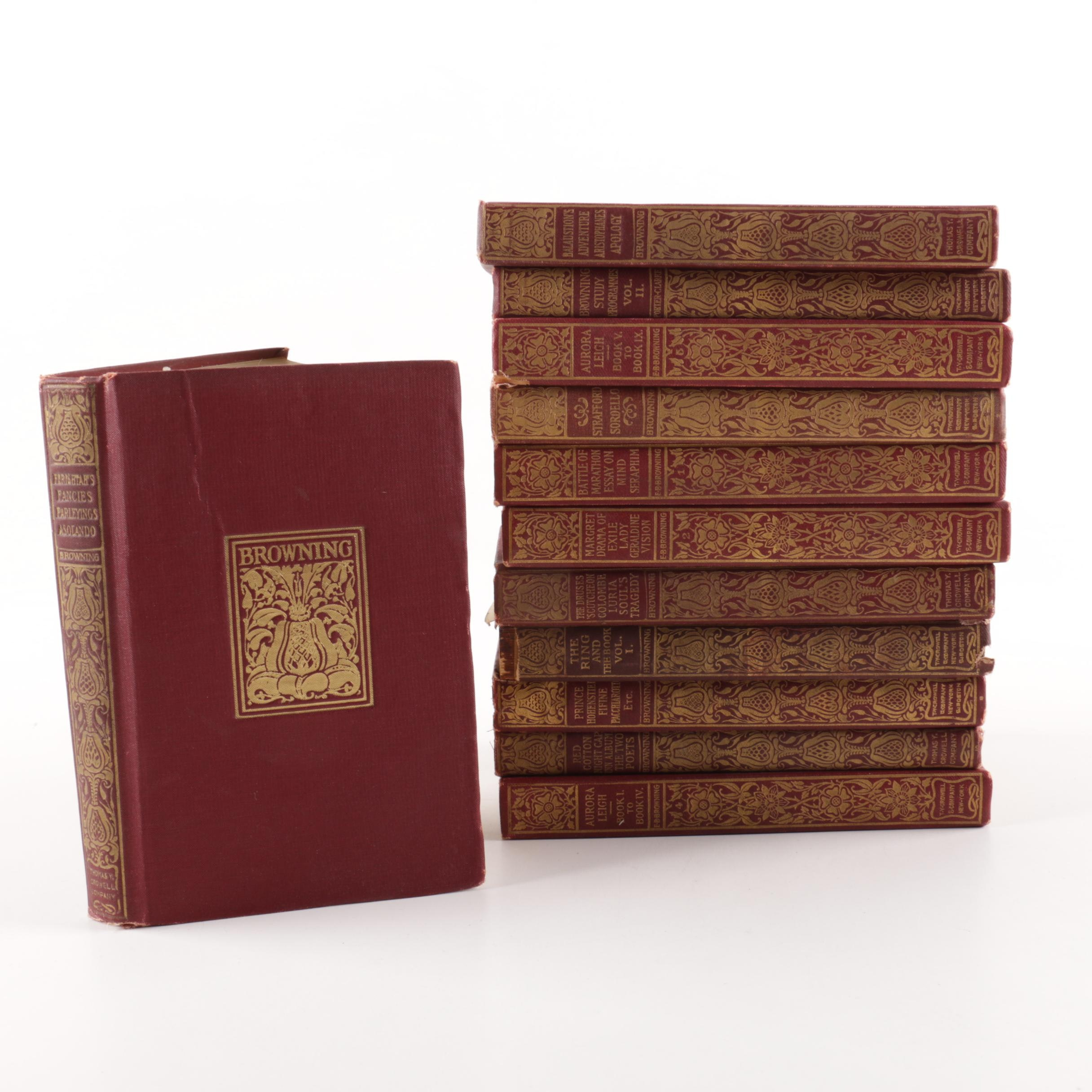 Collection of Antique Books by Robert Browning