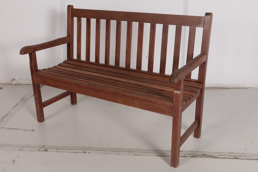Wooden garden bench by oxford garden designs ebth for Oxford garden designs