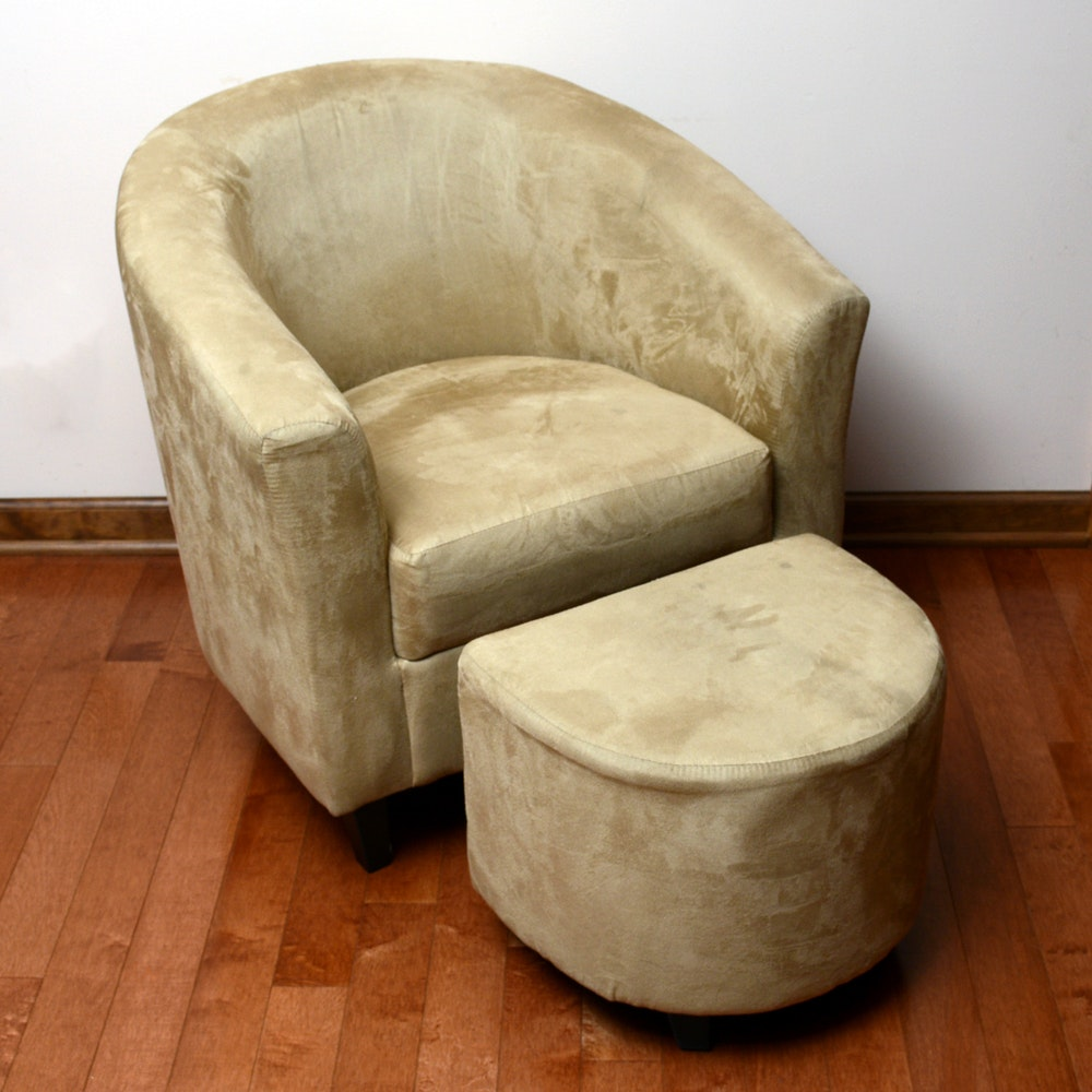 Contemporary Modern Club Chair with Ottoman by Nantucket Distributing
