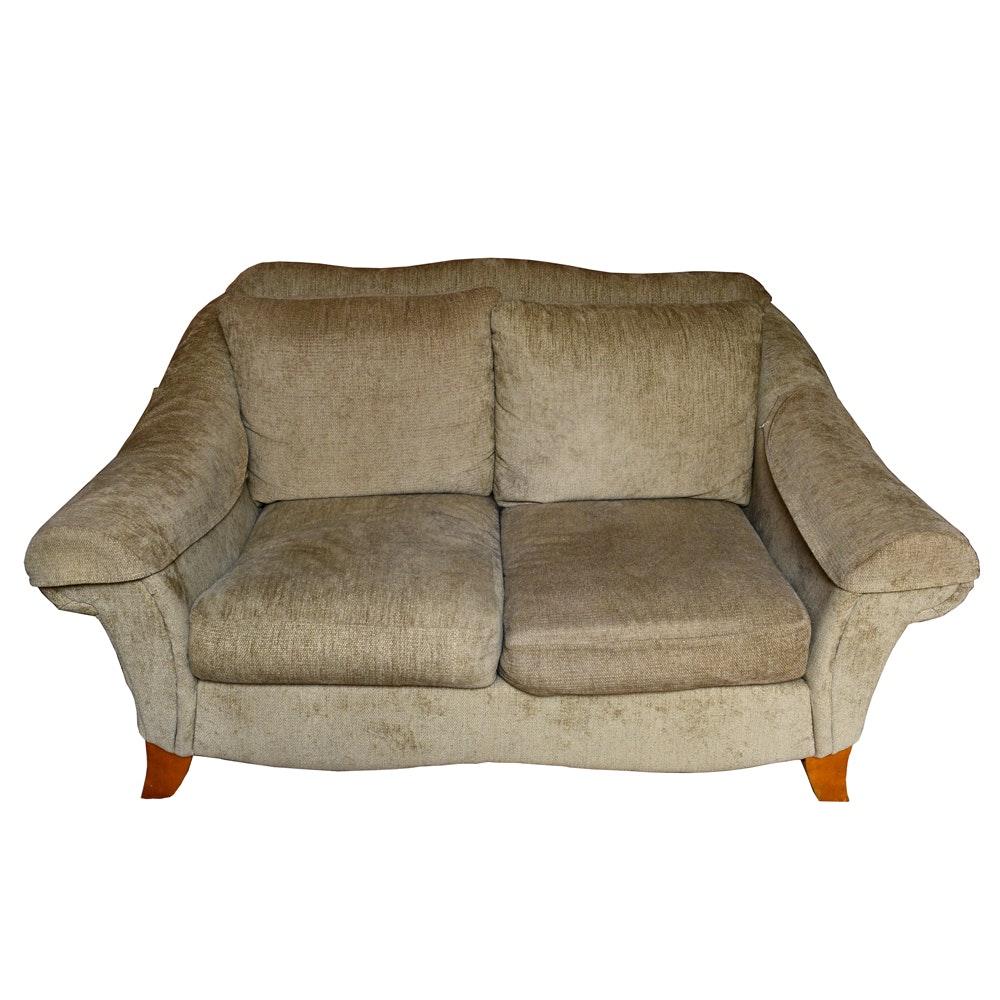 Contemporary Style Gray Love Seat