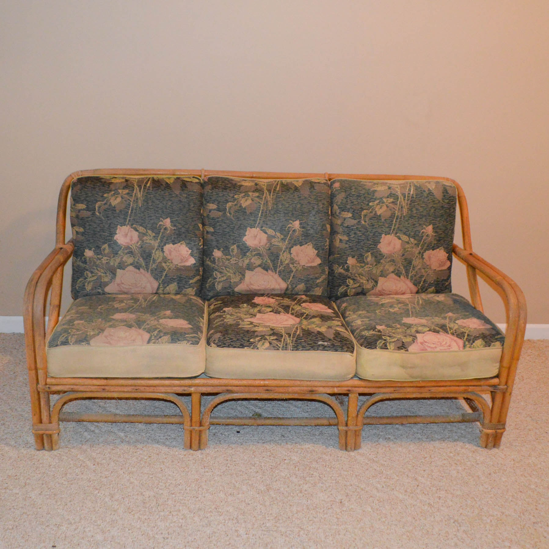 Vintage Rattan Sofa ...