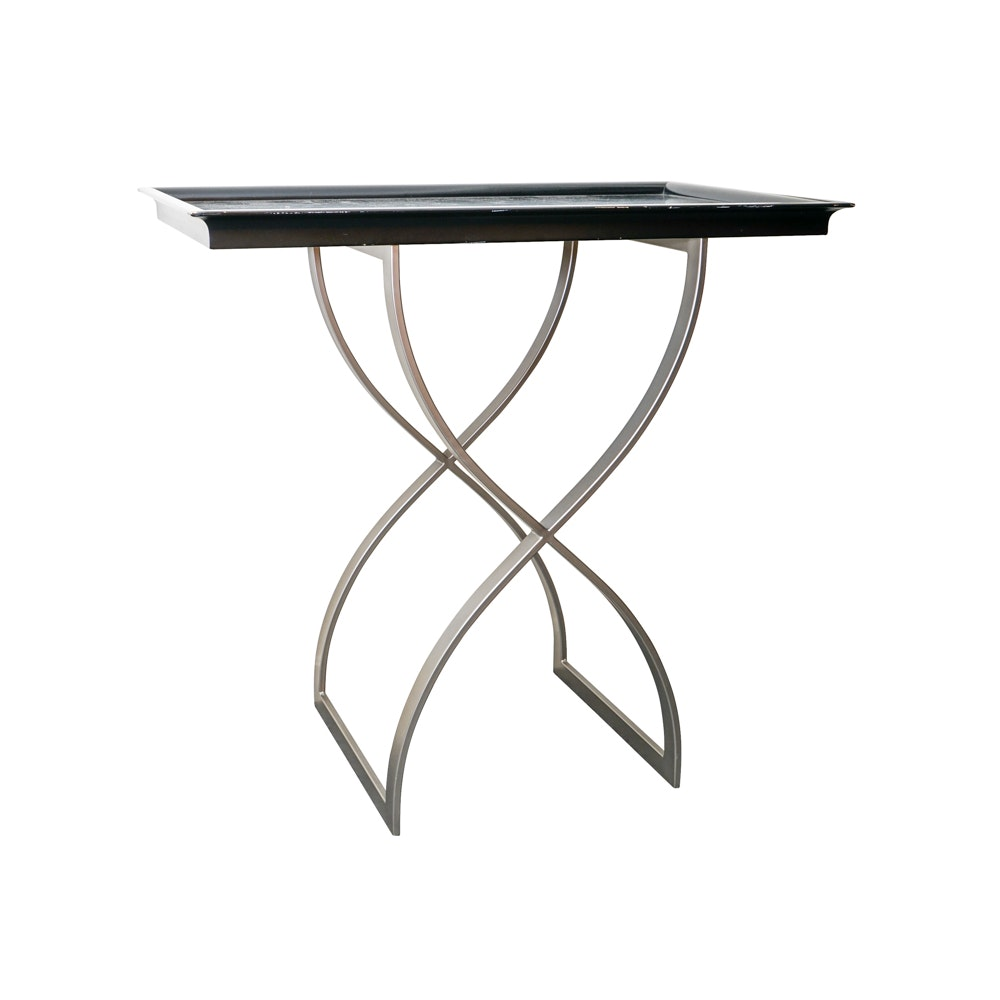 Contemporary Standing Bar Tray Table ...