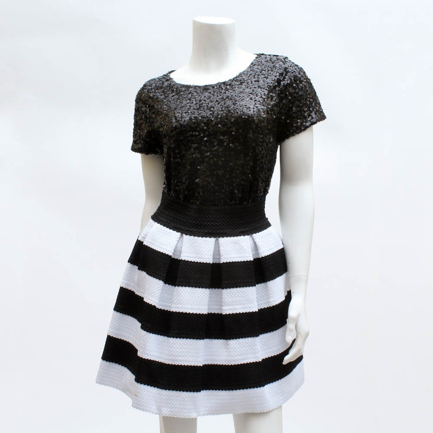 Sequin Top And Striped Skirt Including Forever 21 Ebth