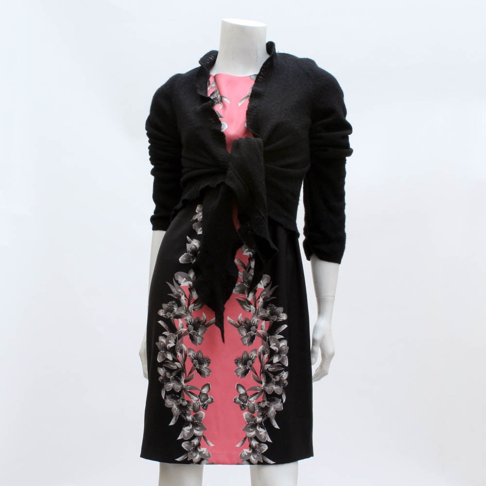 """""""Laundry by Shelli Segal"""" Dress with """"New York & Company"""" Sweater"""