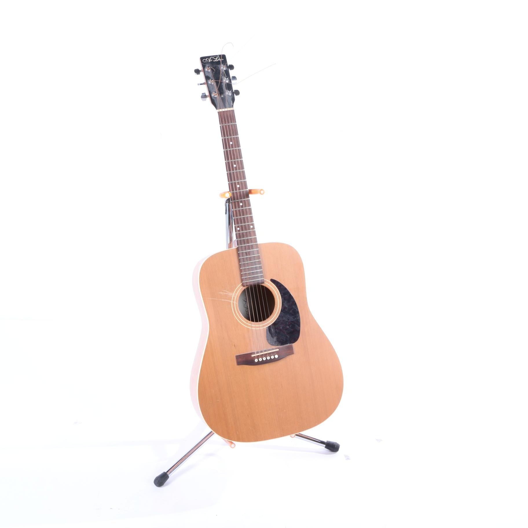 Art & Lutherie Dreadnought-Style Cedar Acoustic Guitar with Stand