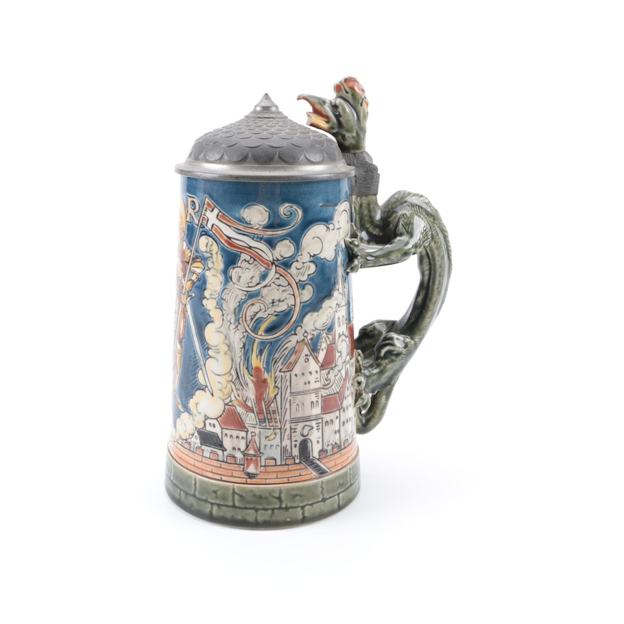 Mettlach Quot St Florian Quot Ceramic Stein By Villeroy And Boch